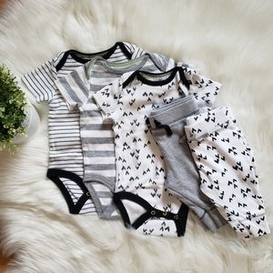 Set of Cat & Jack Onesies and Pants